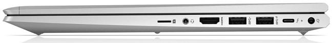 HP ProBook 650 G8の右側面 閉じた状態