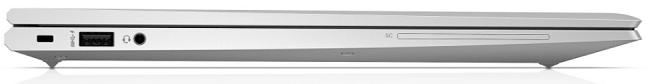 HP EliteBook 850 G7の外観 閉じた状態の左側面