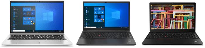 HP Probook 650 G8とLenovo ThinkPad E15 Gen 2、ThinkPad T15 Gen 2の筐体比較