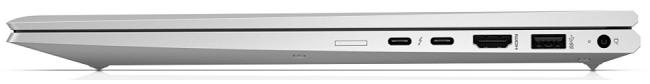 HP EliteBook 850 G7の外観 閉じた状態の右側面