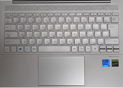 HP Envy 14-eb0000のキーボード