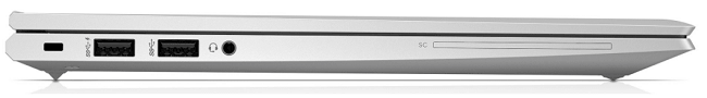HP EliteBook 840 Aero G8の左側面インターフェイス