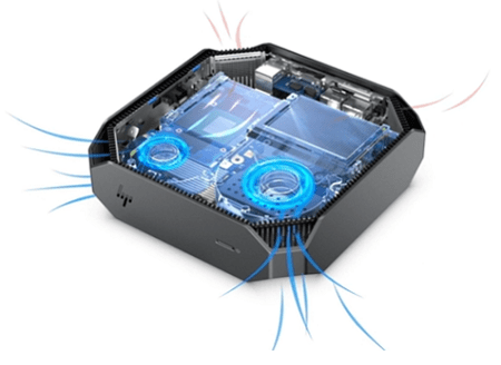 HP Z2 Mini G5 WorkStationの空気口