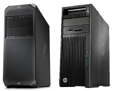 HP Z6 G4と旧モデルのX640の筐体比較