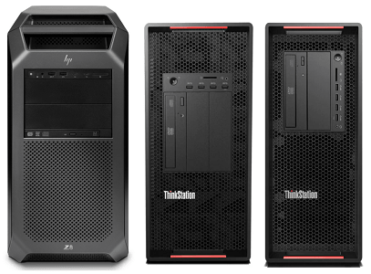 HP Z8 G4とLenovo ThinkStation P920、P720との比較