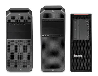 HP Z4 G4とZ6 G4、Lenovo ThinkStation P520の筐体比較