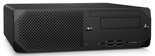 HP Z2 SFF G5 Workstation 置いた状態 右斜め前から