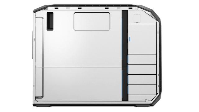 HP Z8 G4の筐体内部 サイドパネルを開けた状態