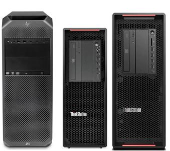 HP Z6 G4とLenovo ThinkStation P720、P520の筐体比較
