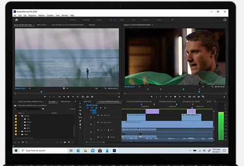 Surface Laptop 4のディスプレイ Adobe Premiere Pro使用時
