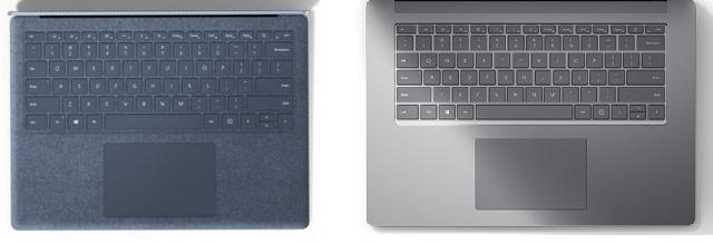Surface Laptop 4のキーボード面の種類