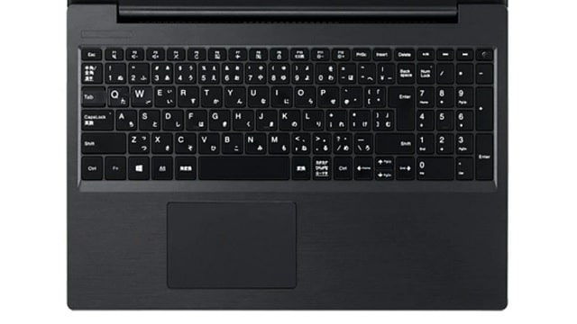 NEC Lavie Direct NS(R)のキーボード