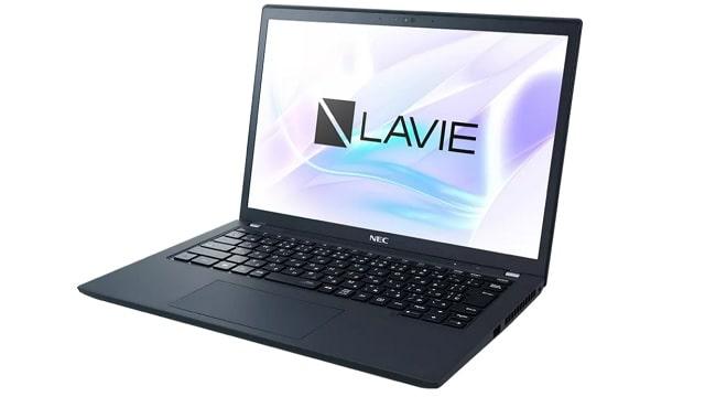 NEC Lavie Direct PM(X) 2021年夏モデル 右斜め前から