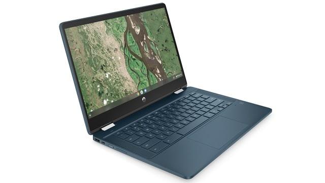 HP Chromebook x360 14b-cb0000 左斜め前から