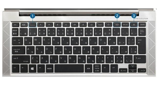 HP Elitebook 830 G8のキーボード