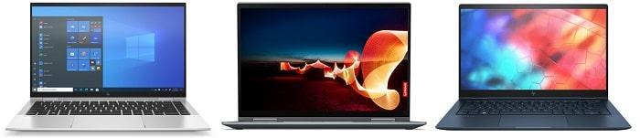 HP EliteBook x360 1040 G8と比較機種の筐体