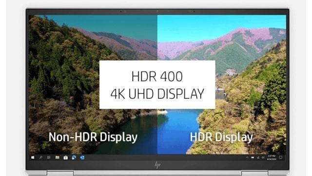 HP EliteBook x360 1040 G8のディスプレイ