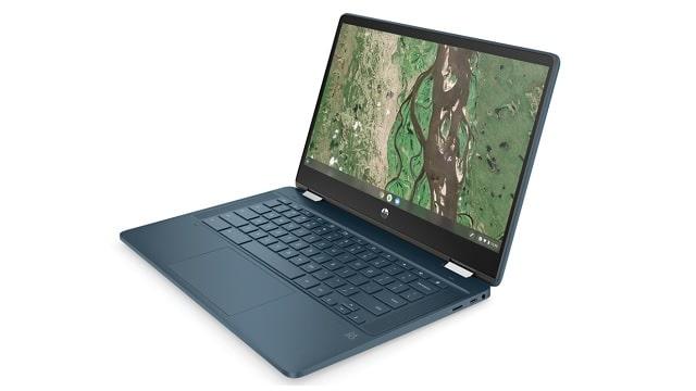 HP Chromebook x360 14b-cb0000 右斜め前から