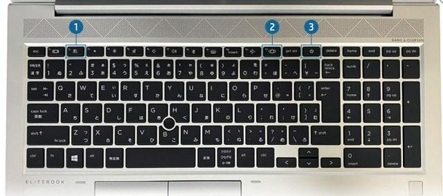 HP EliteBook 850 G8のキーボード