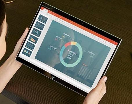 HP Elite x2 G8 タブレット使用時