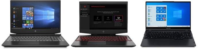 HP Pavilion Gaming 15-ec2000と比較機種の筐体