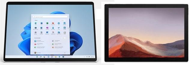 Surface pro 8とPro 7の筐体比較