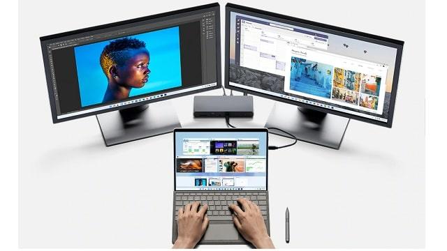 Surface pro 8 外付けモニター使用