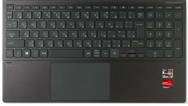 Envy x360 15-ee1000のキーボード