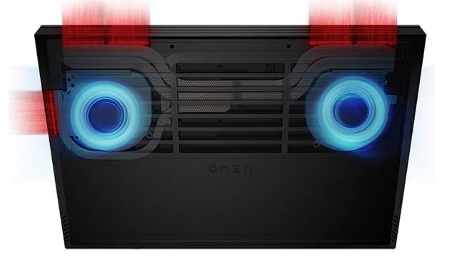 HP OMEN 16-c0000 AMDの背面