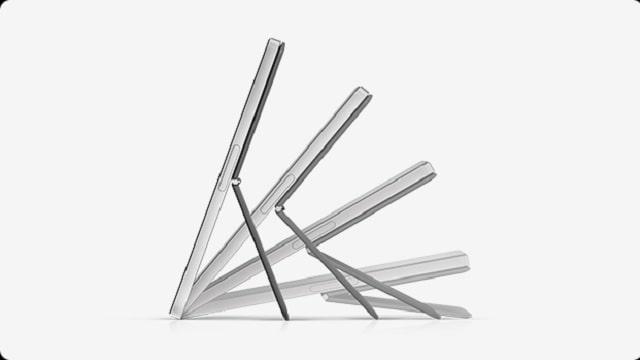 HP Chromebook x2 11 キックスタンドの可動角度