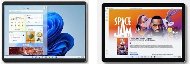 Surface Go 3とSurface Pro 8の筐体比較